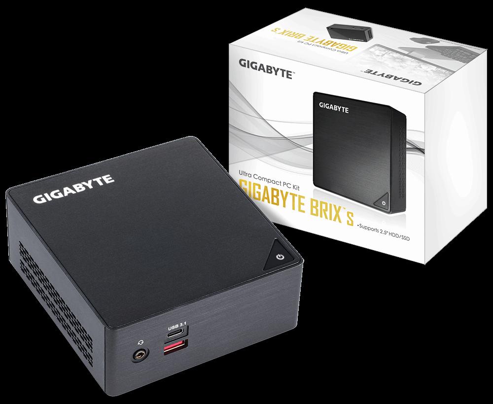 Gigabyte BRIX GB-BKi3HA-7100, 2.5' HDD/SSD, Intel® 7th generation, Intel® HD