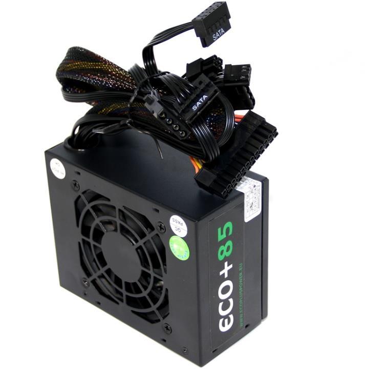 Zdroj ECO+85 SFX-250WA, aktivní PFC, ErP2015,8cm ventilátor (125x63x100mm),bulk