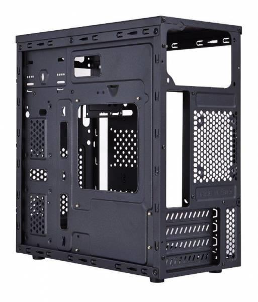 EUROCASE skříň MC X203 black, micro tower, without fans, 2x USB 2.0 (without splitter)