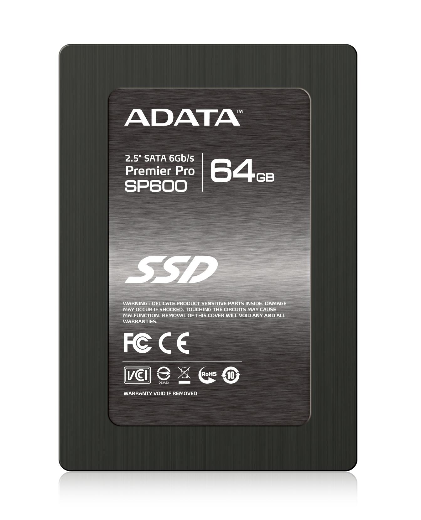 """ADATA SSD SP600 64GB 2.5"""" SATA III 430/70MB/s"""