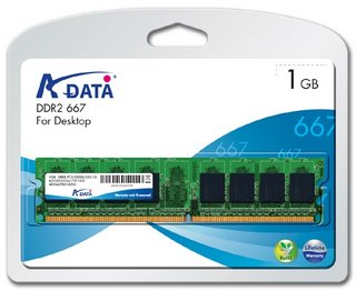 A-Data 1GB DDR2 667MHz CL5 DIMM, retail