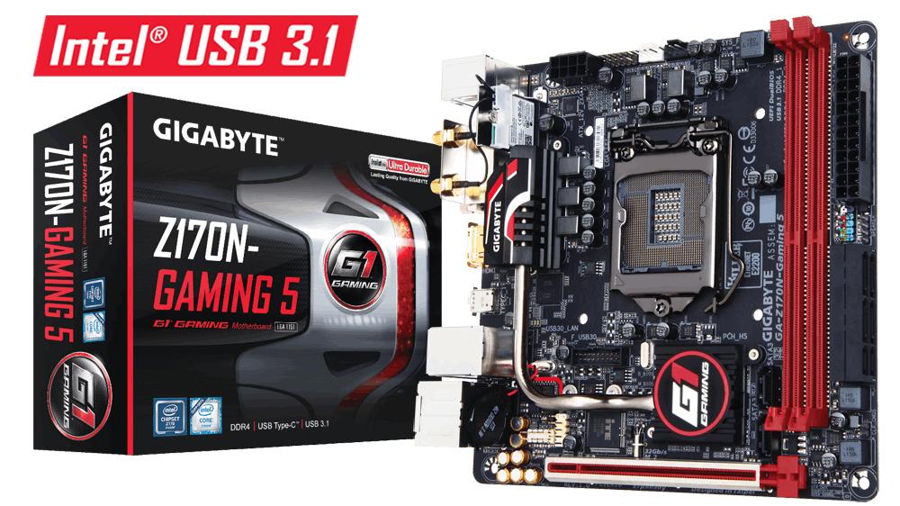 Gigabyte GA-Z170N-Gaming 5, Z170, DualDDR4-2133, SATA3, SATAe, HDMI, DVI, mITX