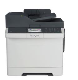 Lexmark CX410de, color laser MFP, 4800,30/30ppm,512MB, 800MHz, USB, Duplex, GLan, Fax