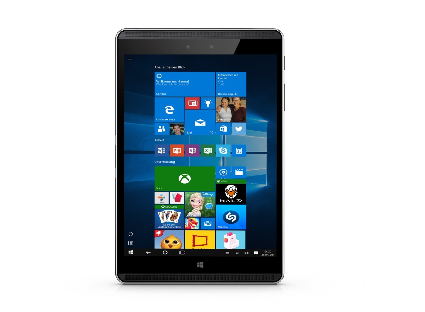 """HP Pro Tablet 608 G1 Z8550 7.86"""" QXGA (2048x1536), 4GB, 128GB, ac, BT, NFC, LTE/GPS, Win 10 Pro + pen"""