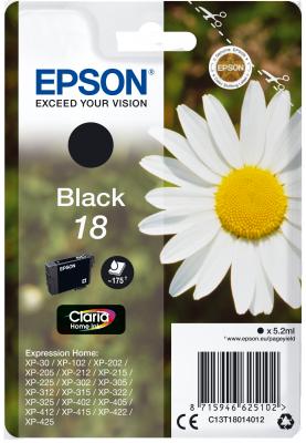 EPSON cartridge T1801 black (sedmikráska)