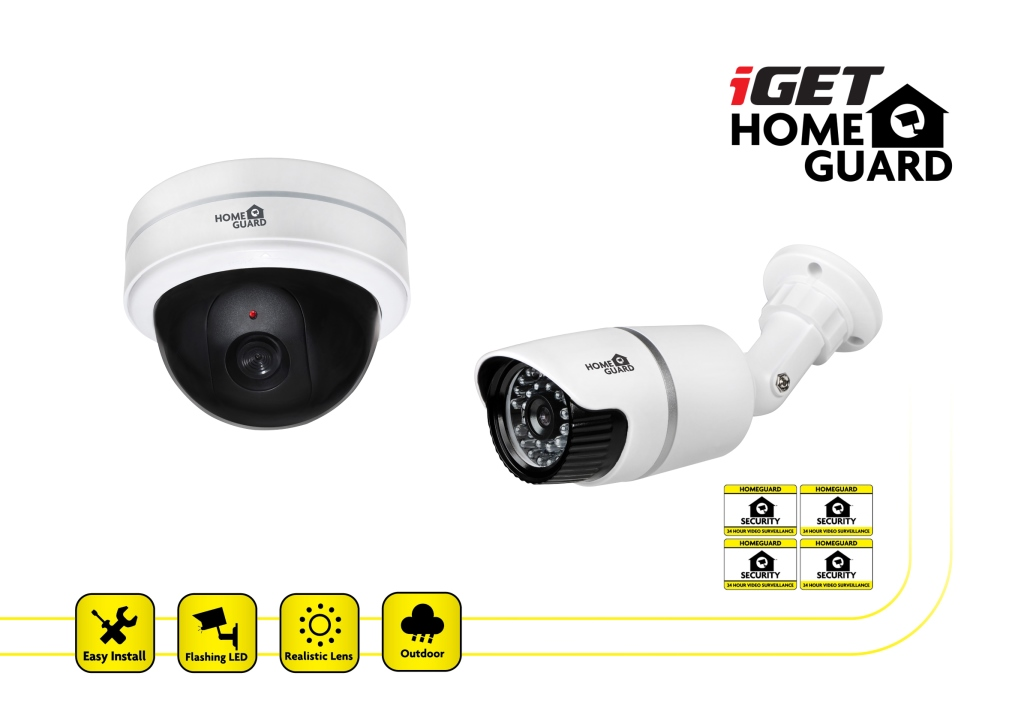 iGET HGDCK6058 - 2ks makety CCTV kamer, LED
