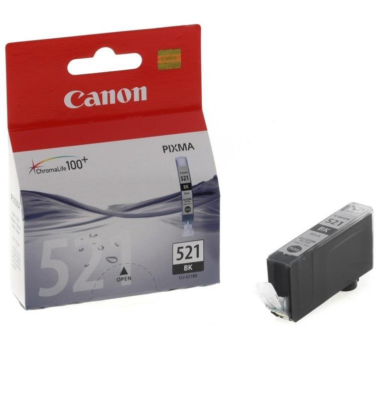 Inkoust Canon CLI521BK black blister se zabezpečením | iP3600/iP4600/MP540/MP620