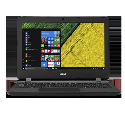 """Acer Aspire ES 11 (ES1-132-C4B8) Celeron N3350/4GB+ N/A/eMMC 32GB+N/A/HD Graphics/11.6"""" HD matný/BT/W10 Home/Black/Red"""
