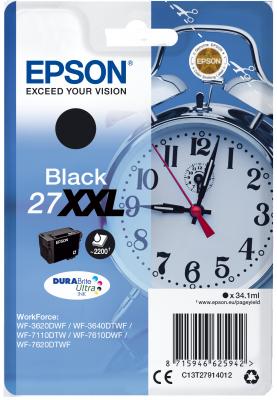 Epson Singlepack Black 27XXL DURABrite Ultra Ink
