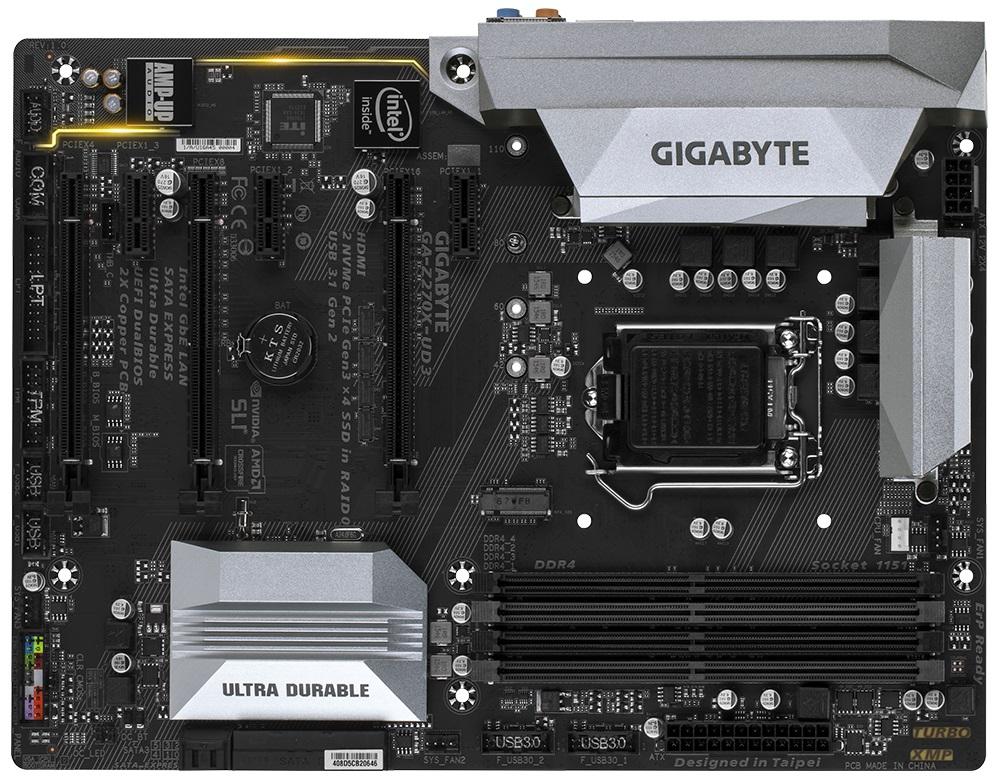 GIGABYTE MB Sc LGA1151 GA-Z270X-UD3, Intel Z270, 4xDDR4, HDMI, ATX