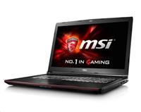 """MSI NB GP72 6QF-803CZ Leopard Pro,17.3"""" FHD AG,i7-6700HQ,2x8GB,GTX960M,1TB 7200,DVDRW,WF+BT4.0,W10"""