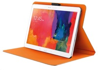 "TRUST Pouzdro na tablet 10"" Aeroo Ultrathin Folio Stand for tablets - šedé/oranžové"