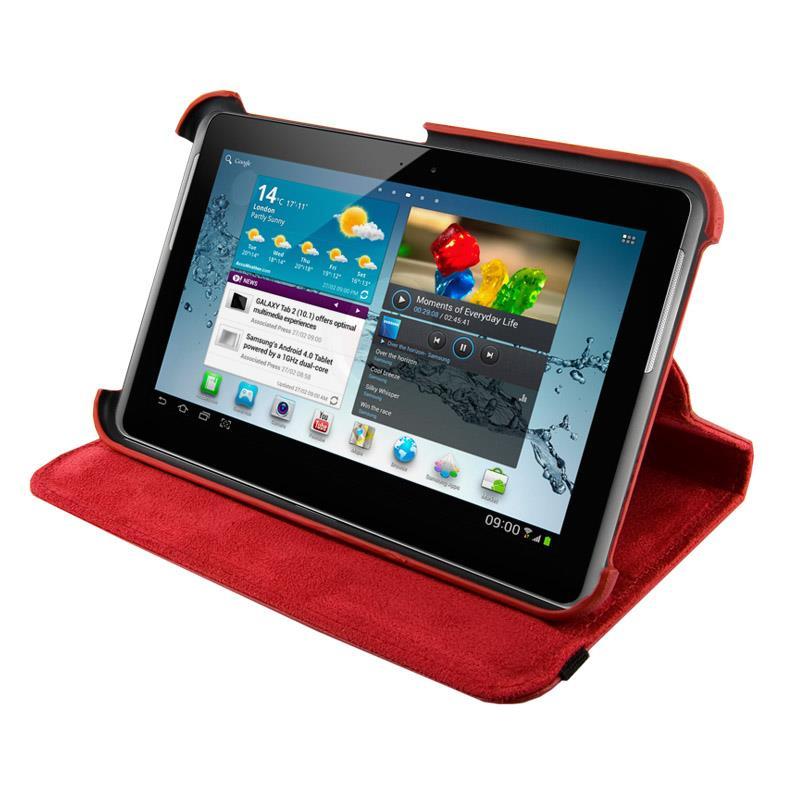 4World Pouzdro - stojan pro Galaxy Tab 2, Rotary, 7'', červený