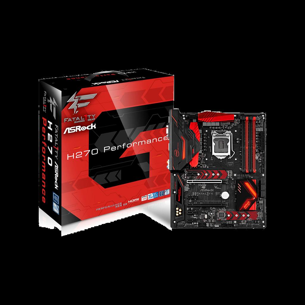 ASRock H270 Performance, INTEL H270 Series,LGA1151,4 DDR4,3xM.2(2for SSD,1WiFi)