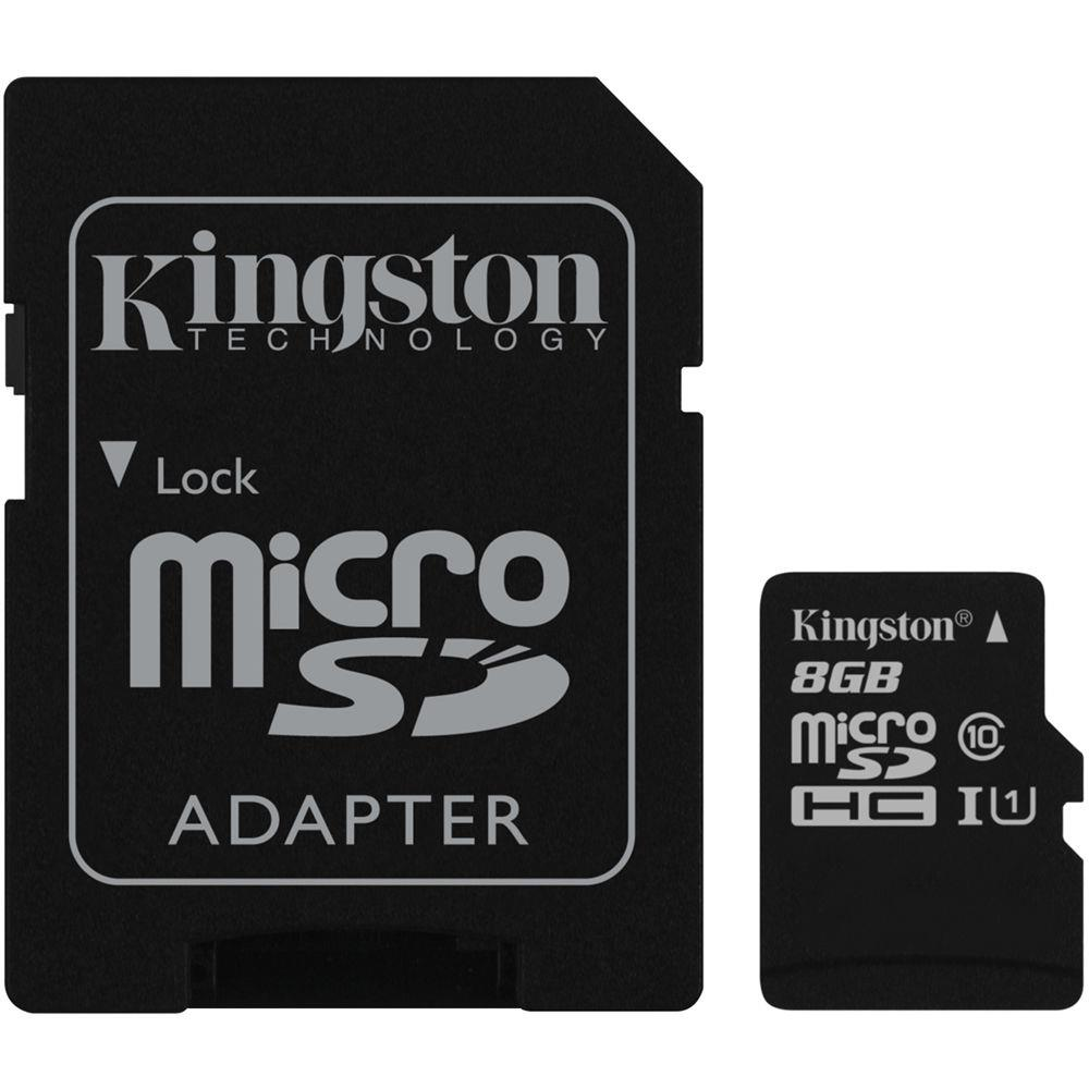Kingston micro SDHC 8GB Class 10 UHS-I + adaptér