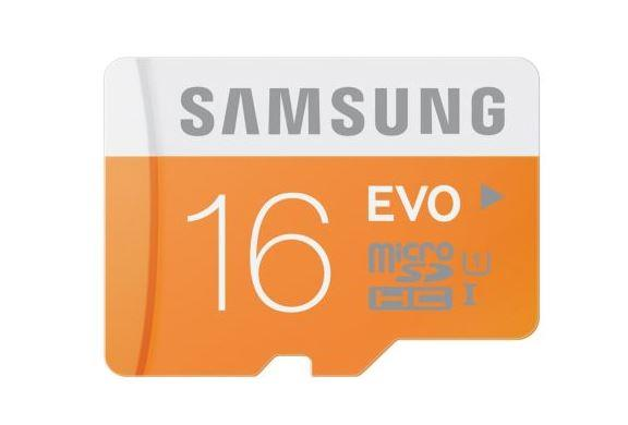 Samsung paměťová karta micro SDHC 16GB Class 10 UHS-I Evo (rychlost až 48MB/s)