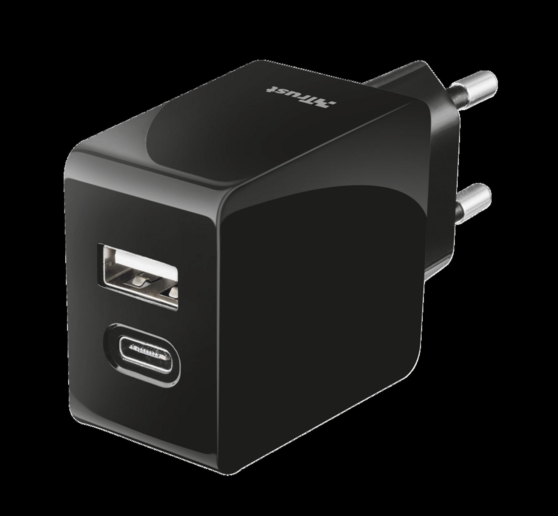 nabíječka TRUST Fast Dual Wall Charger, USB, USB-C