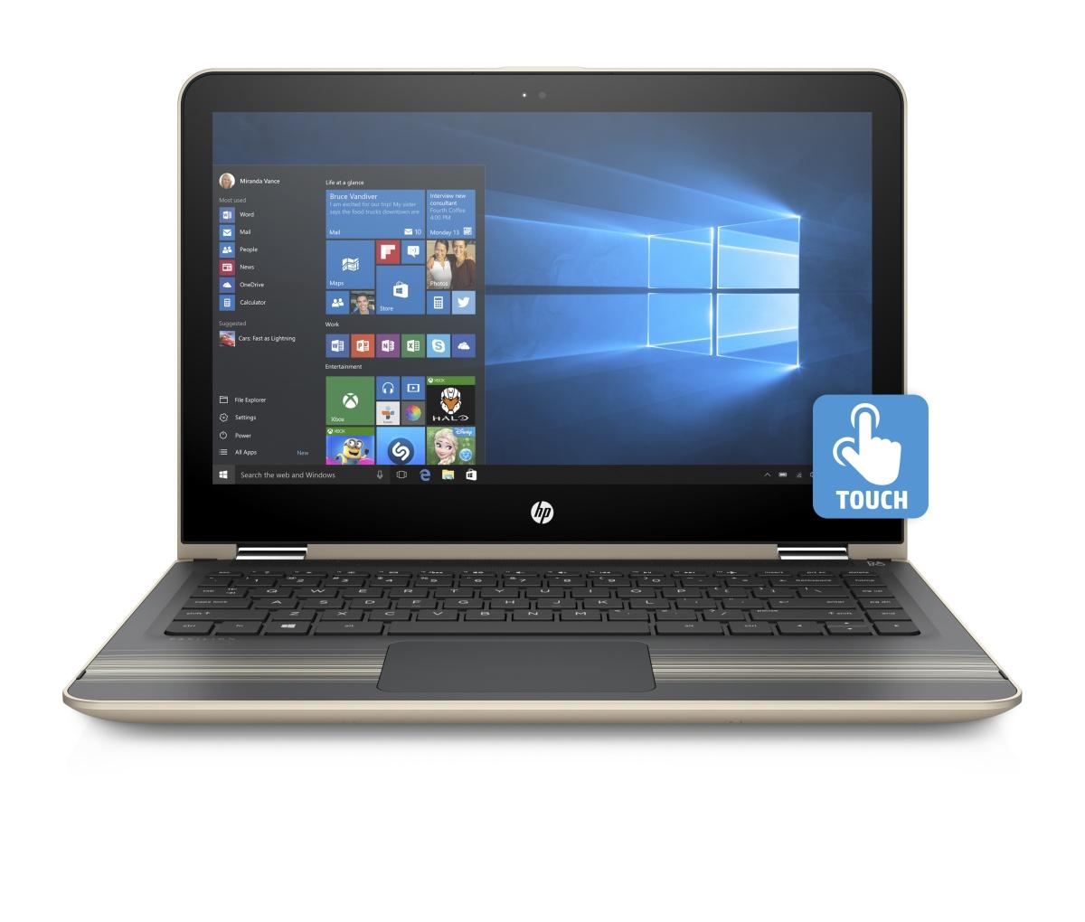 """HP Pavilion 13 x360 -u101nc/Intel i3-7100U/4GB/500GB SSHD/Intel HD 620/ 13,3"""" FHD/Win 10/zlatá"""