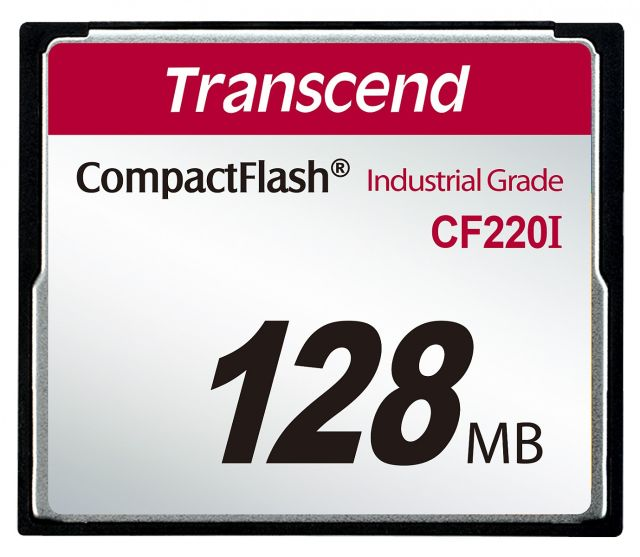 Transcend 128MB INDUSTRIAL TEMP CF220I CF CARD (SLC) Fixed disk and UDMA5