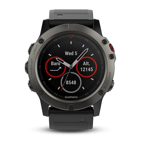 Garmin fenix5X Sapphire Gray Optic, Black band
