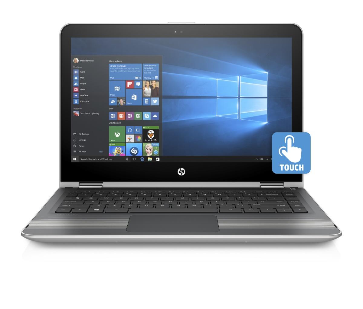 """HP Pavilion 13 x360 -u103nc/Intel i3-7100U/8GB/500GB SSHD/Intel HD 620/ 13,3"""" FHD/Win 10/stříbrný"""