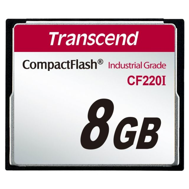 Transcend 8GB INDUSTRIAL TEMP CF220I CF CARD (SLC) Fixed disk and UDMA5