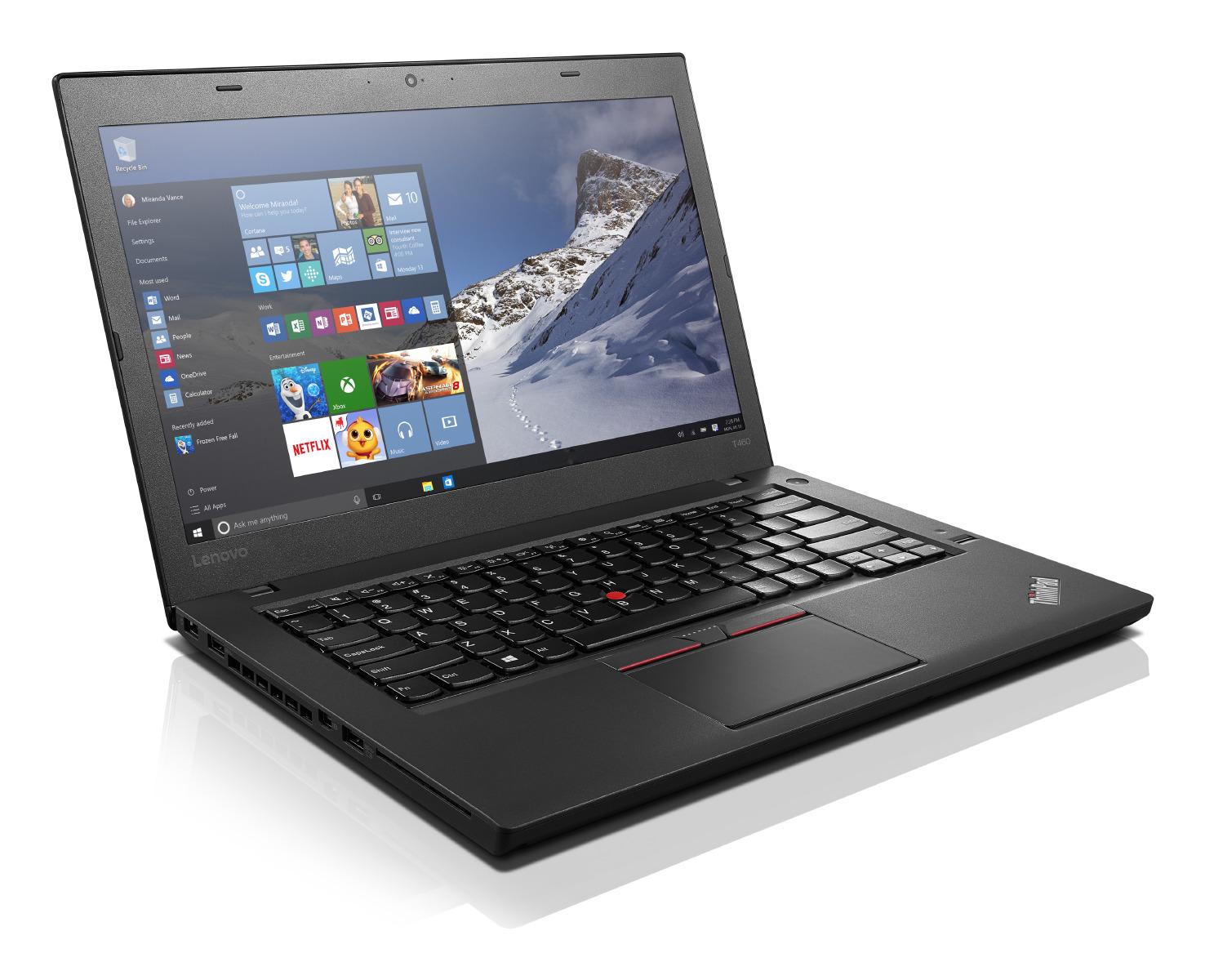 """Lenovo ThinkPad T460 i5-6200U/8GB/256GB SSD/HD Graphics 520/14""""FHD IPS/Win10PRO/Black"""