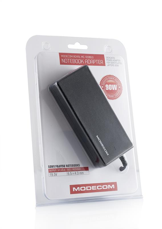 Modecom ROYAL MC-1D90SO adaptér pro notebooky SONY/FUJITSU, 90W