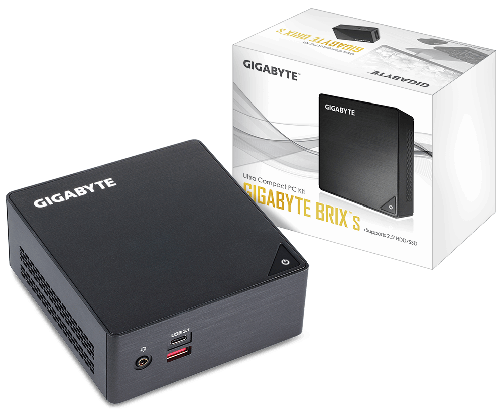 Gigabyte BRIX GB-BKi3HA-7100, 2.5' HDD/SSD, Intel® 7th generation, Intel® HD