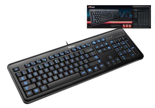 Trust eLight LED osvětlená klávesnice CZ