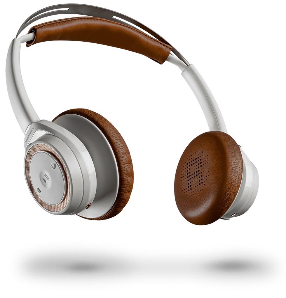 Plantronics BackBeat SENSE Bluetooth stereo sluchátka s mikrofonem, bílá