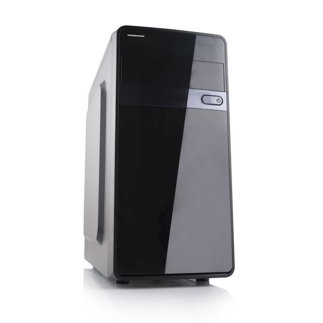 Modecom PC skříň MINI TREND AIR, 1x USB 3.0, 2x USB 2.0, HD audio, černá/lesklá, bez zdroje