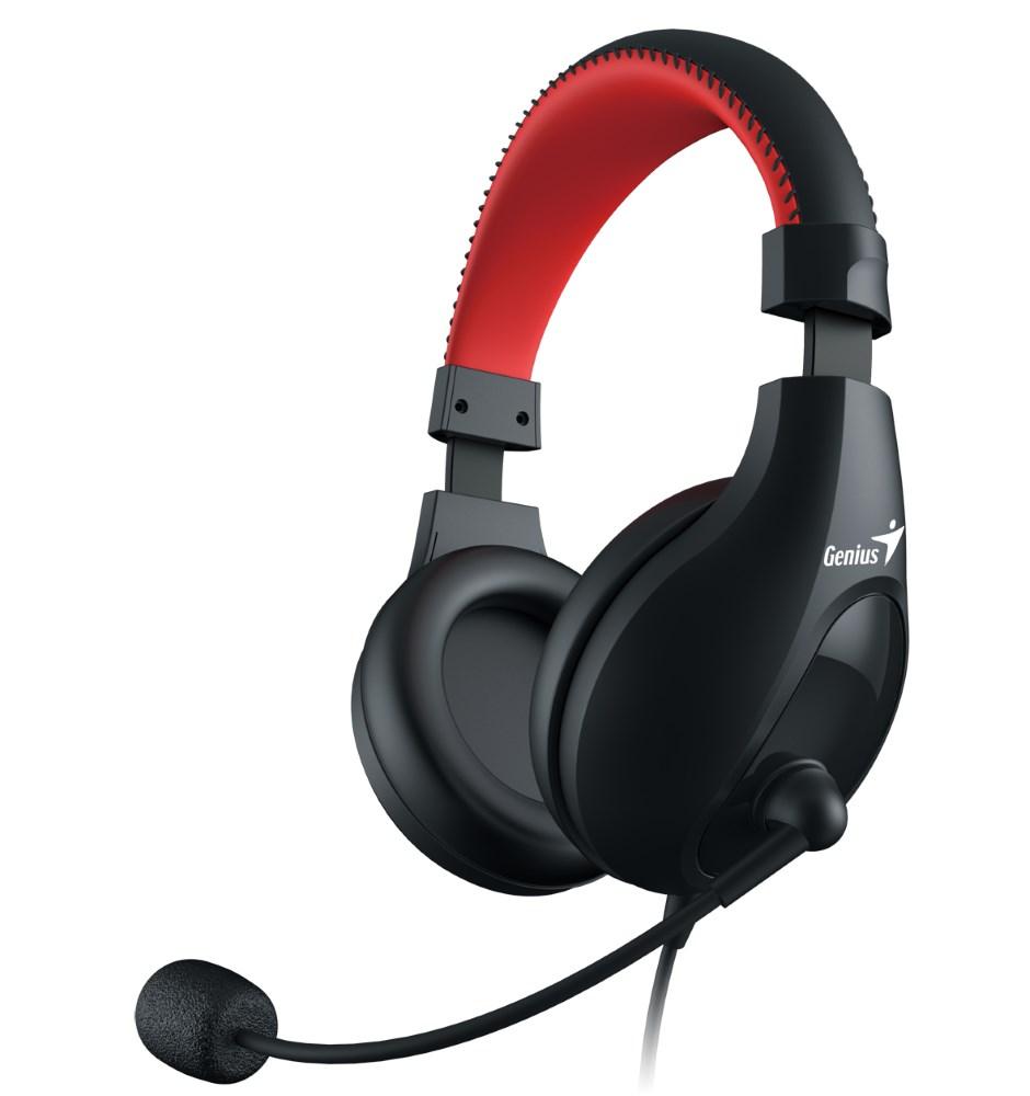 GENIUS herní headset HS-520, sluchátka s mikrofonem, 3,5mm jack 4 pin , černé