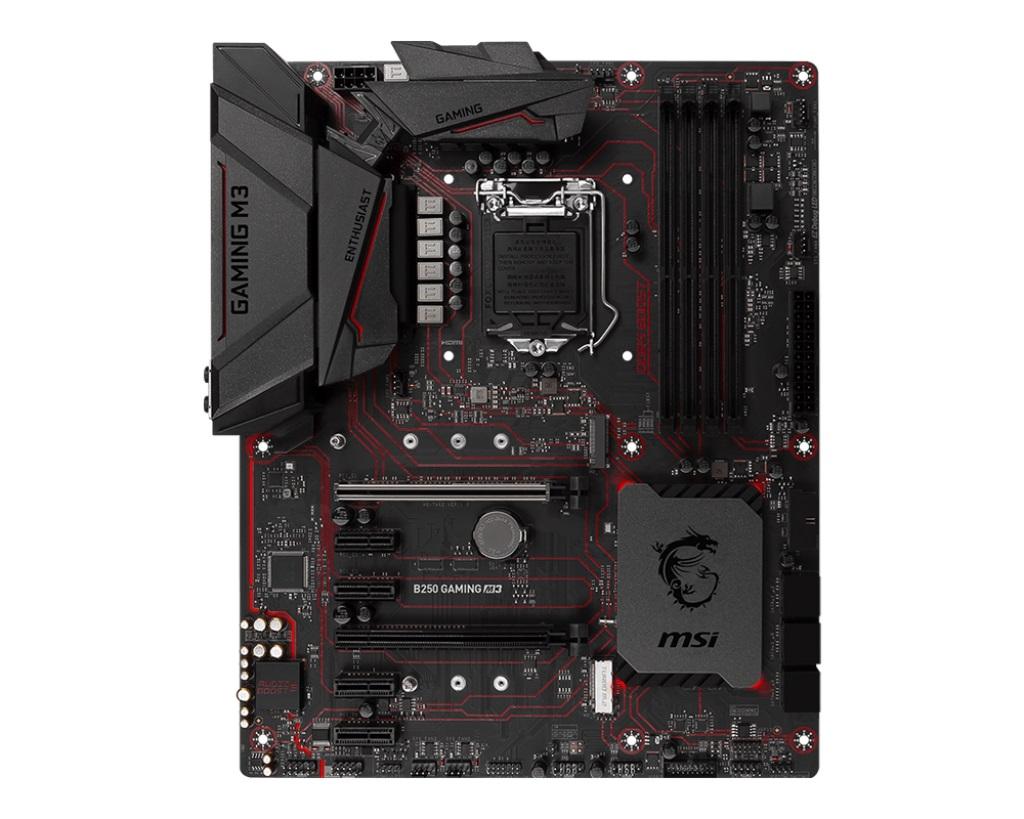 MSI B250 GAMING M3 1151, DDR4, 4xPCI-E x1, 6x SATAIII, HDMI, DVI, ATX, Black/Matt