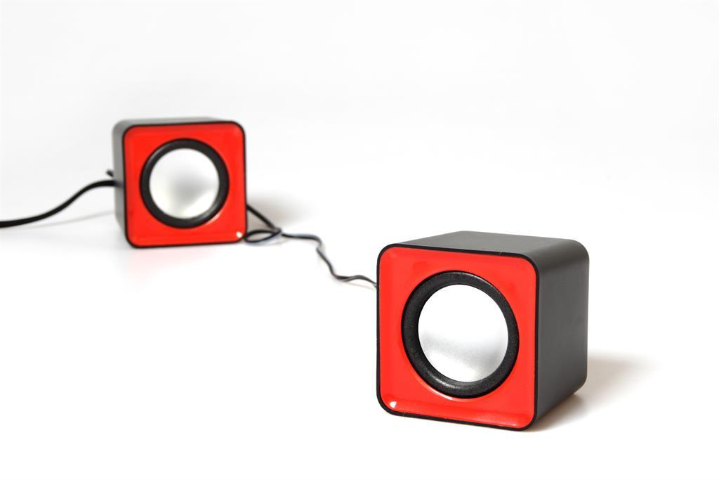 Media-Tech FADO stereo reproduktory 2.0, RMS 6W, USB napájení, červené