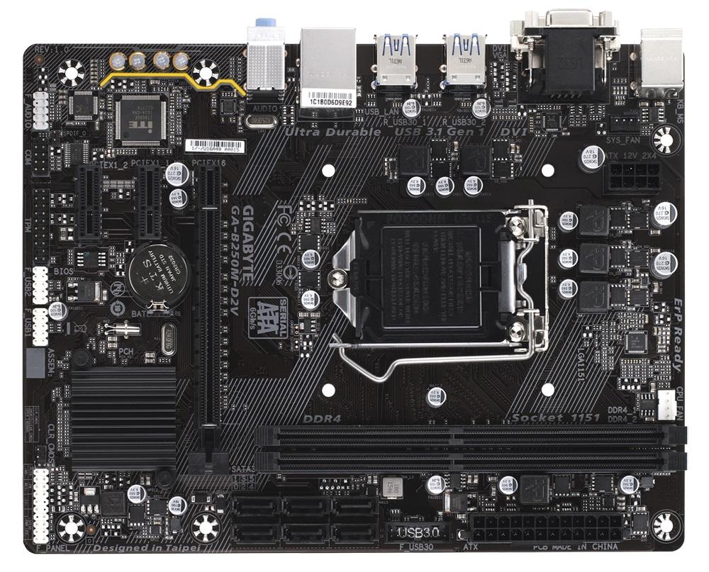 GIGABYTE MB Sc LGA1151 B250M-D2V, Intel B250