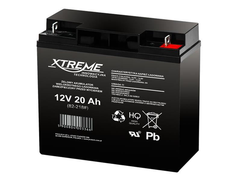 XTREME Nabíjecí gelová baterie 12V 20Ah