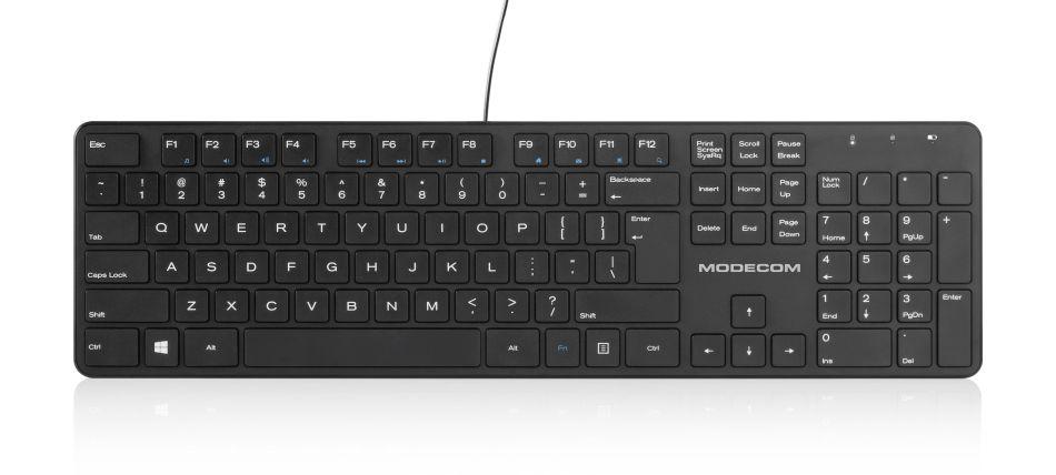 MODECOM klávesnice MC-700U USB černá