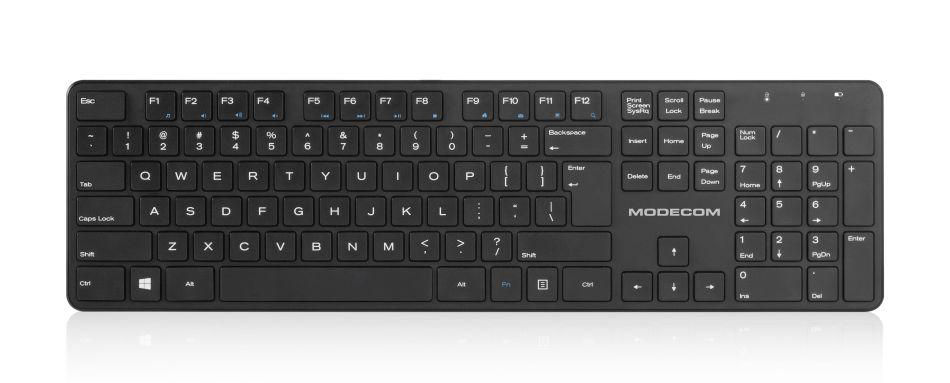 MODECOM klávesnice MC-700W, černá