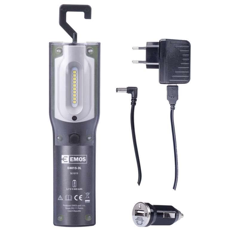 Emos LED svítilna nabíjecí E4015-3L, 5W SMD + 1W UV LED, 500 lm
