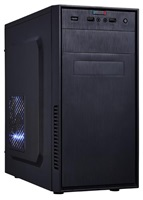 EUROCASE skříň MC X201, 300W Fortron, black, micro tower, 2x USB, 2x audio
