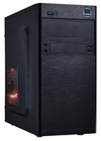 EUROCASE skříň MC X202 black, micro tower, 2xAU, 2x USB 2.0, 1x USB 3.0