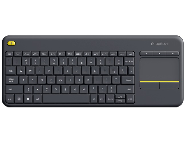 Logitech Wireless Touch Keyboard K400 plus, USB,US