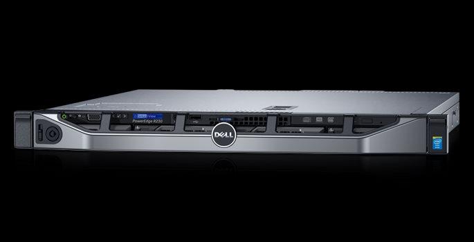 DELL PE R230 Xeon E3-1230 v5/8GB/2x1TB SATA/PERC H330/iDRAC8 Exppress//1U