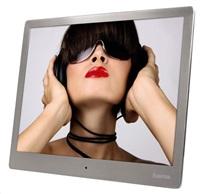 "HAMA Digitální LED fotorámeček 9,7"" (24,6 cm) Steel Premium - stříbrný"