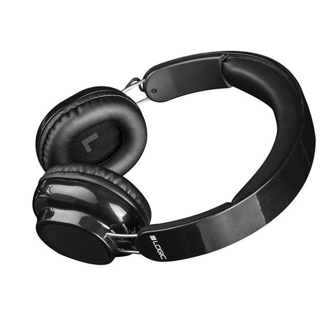 Modecom Logic BT-2 Bluetooth headset, bezdrátová sluchátka s mikrofonem a dotykovým ovládáním, černá