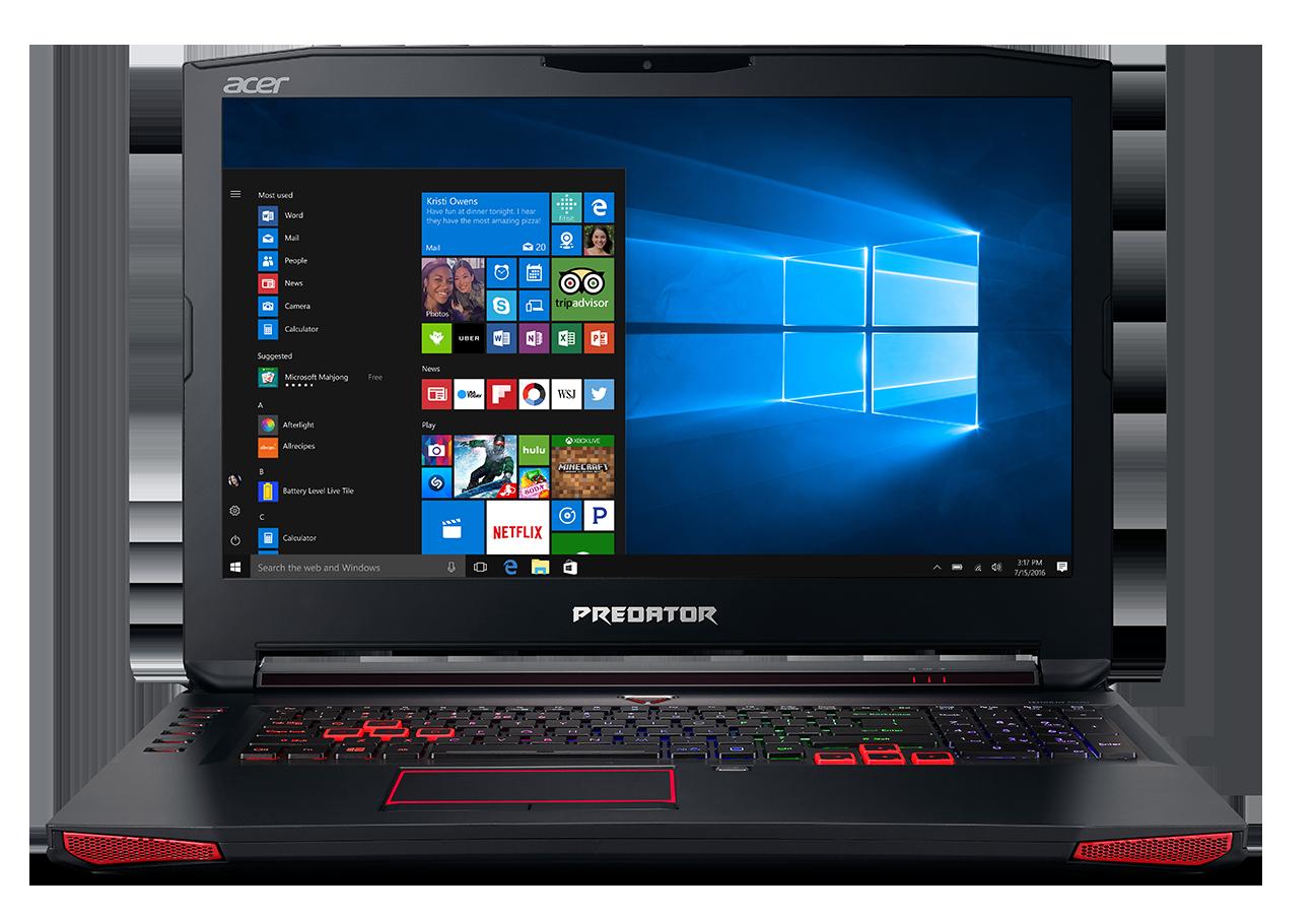 "Acer Predator17 (G9-793-72S8) i7-7700HQ/16GB+16GB/512GB SSD+2TB/DVDRW/GTX 1070 8GB/17.3"" FHD matný IPS/BT/W10 Home/Black"