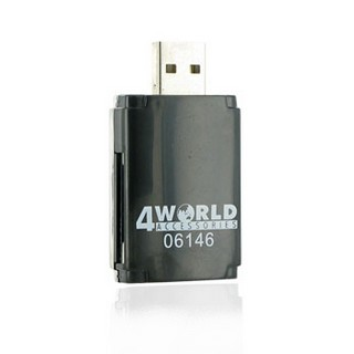 4World čtečka flash karet USB 2.0 ALL-in-ONE MS/M2/SD/microSD/MMC PenDrive