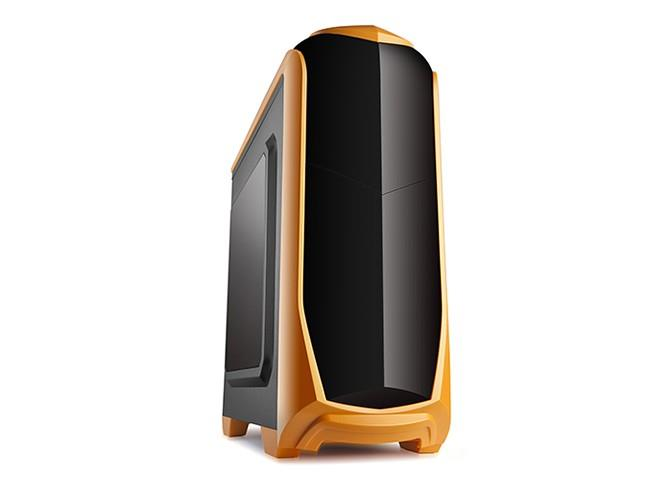 SPIRE skříň X2.ISOLATIC, USB 3.0, gaming, bez zdroje, Black & Orange