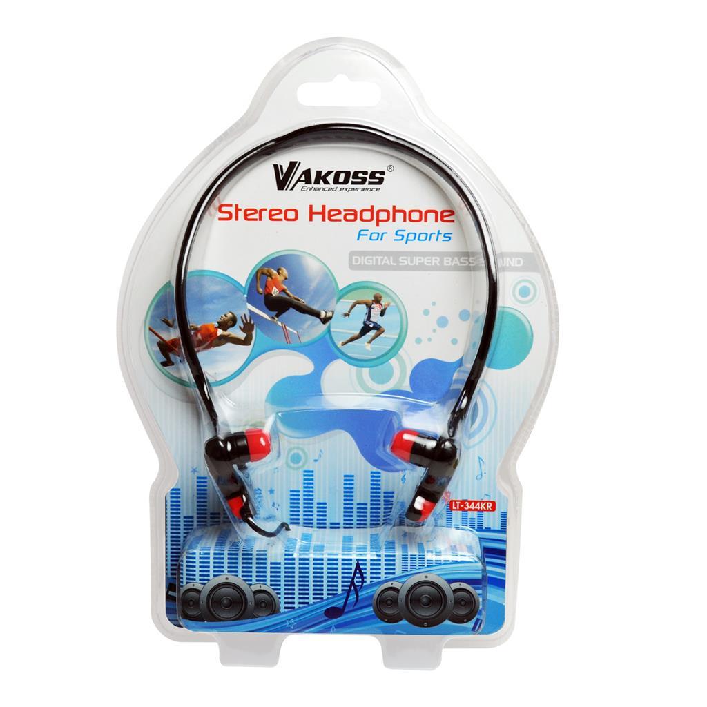 VAKOSS Sportovní stereofonní sluchátka, ergonomický design